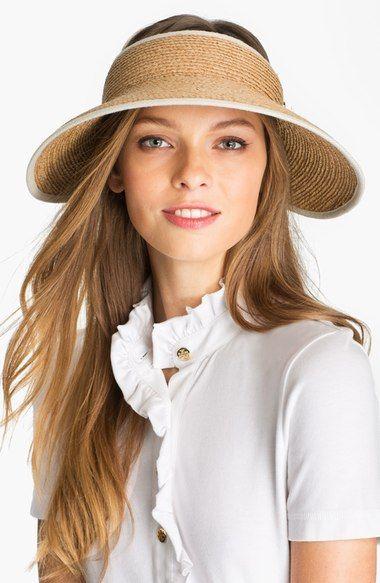473ce7da0 Helen Kaminski 'Mita' Packable Raffia Visor #passion4hats   Fancy ...
