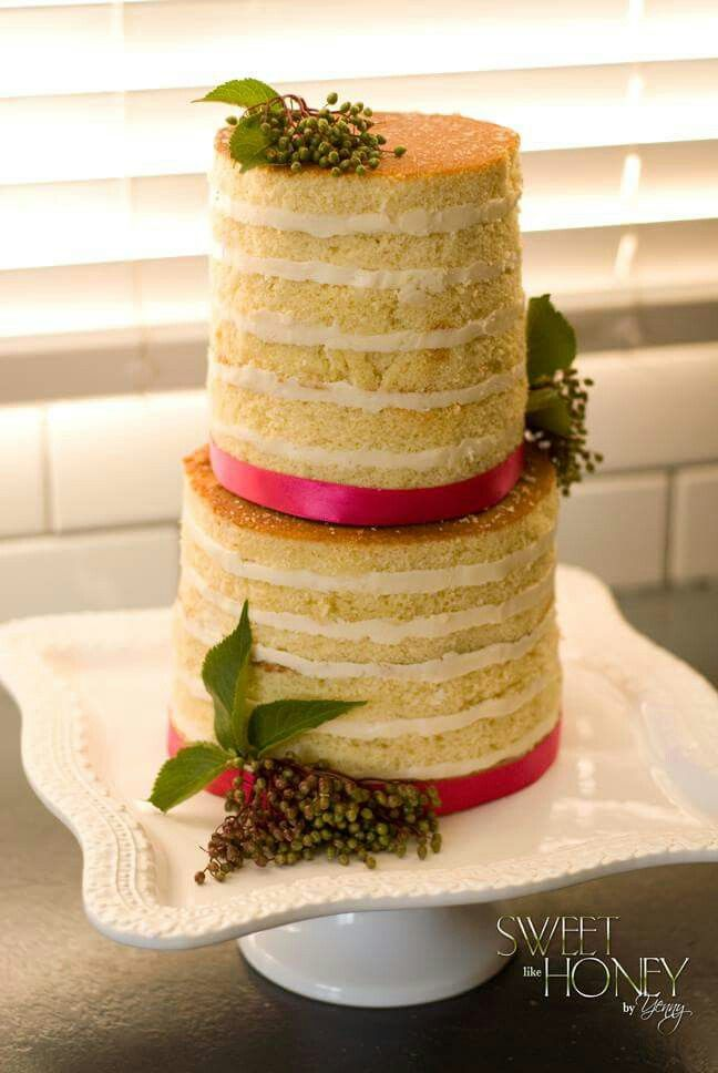 Nake cake . organic cake. Pink and green | Wedding cakes. My style ...