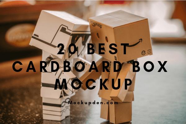 Download Cardboard Box Mockup 20 Cool Cardboard Box Psd Design Template Cardboard Box Are Used Widely For Different Kind O Box Mockup Cardboard Box Design Template