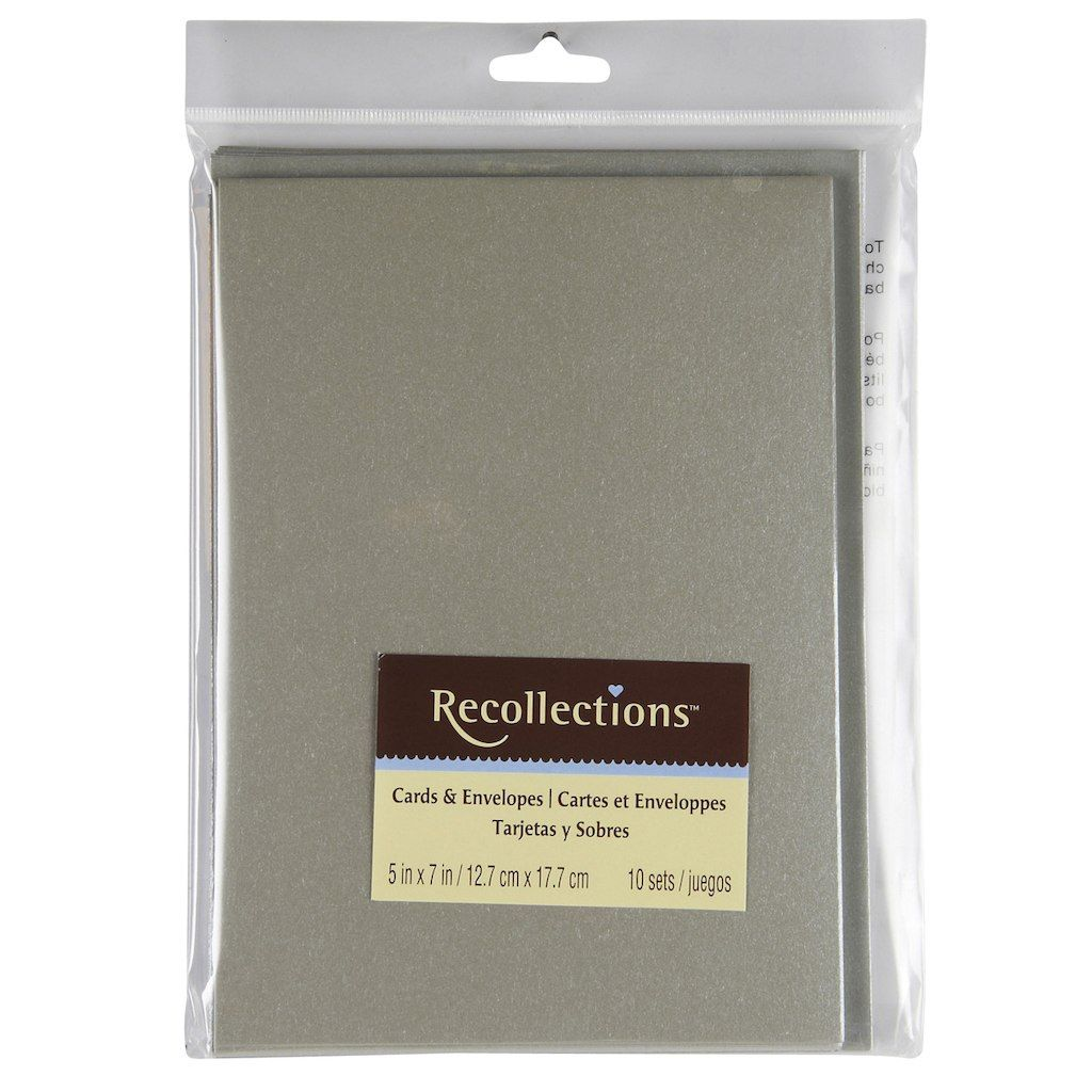 Silver Cards Envelopes By Recollections 5 X 7 Cards Envelopes Mini Envelopes Template Envelope Template Printable