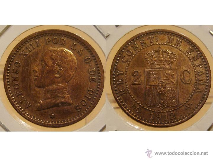 2 CÉNTIMO 1912 *12 PCV ALFONSO XIII