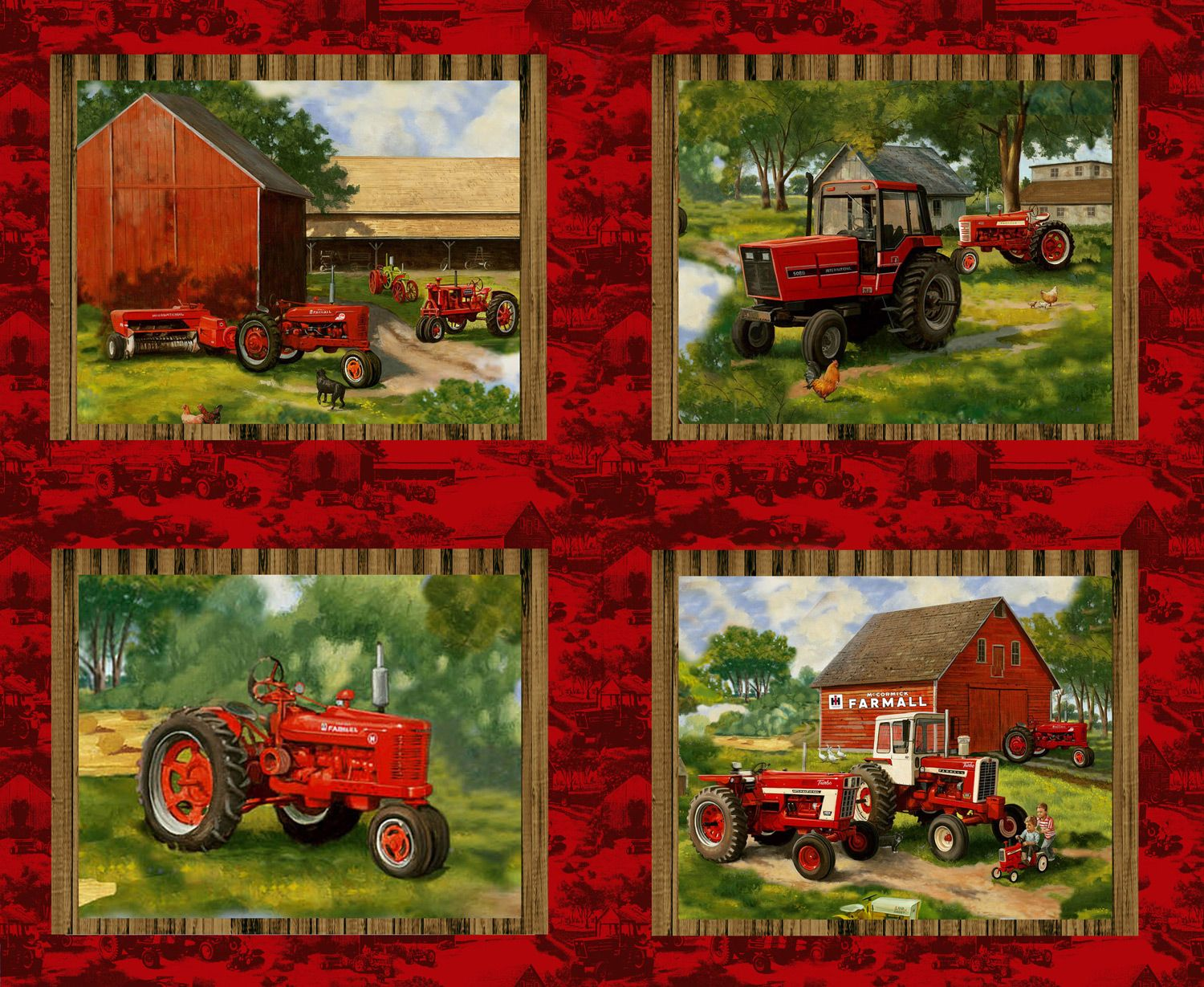 The Page Cannot Be Found Tractor Quilt Farmall Fabric Panels