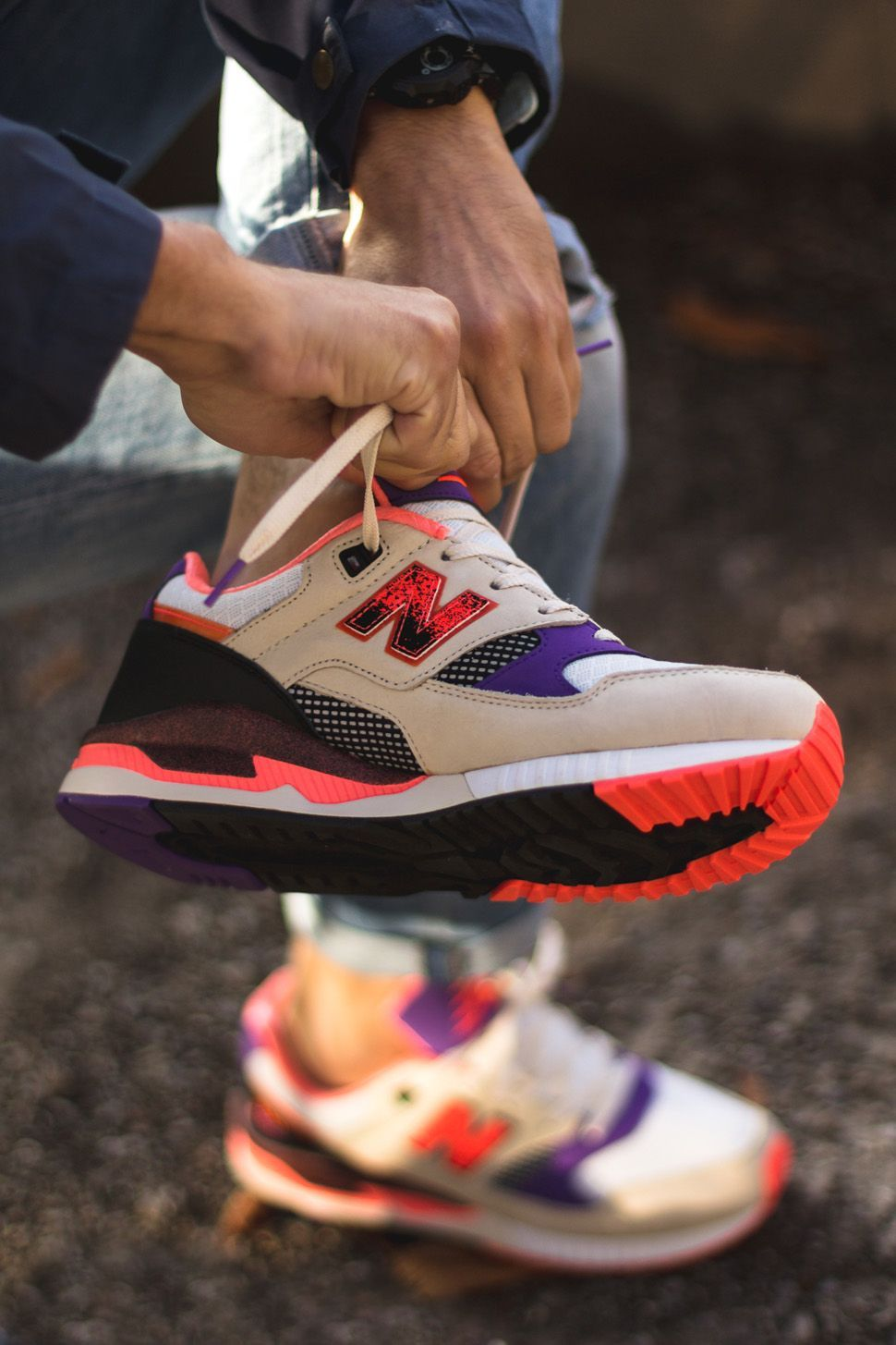 Bringing back 90 s retro sport with the West NYC x New Balance 530 Lava   collab  newbalance  streetstyle a9d7049499
