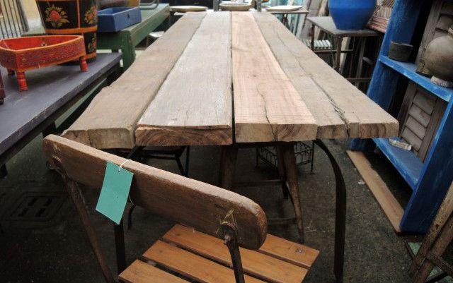 Tavolo Con Tavole Di Legno.Tavolo Realizzato Artigianalmente Con Vecchie Assi Da