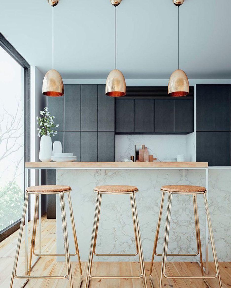 Some kitchen inspo via @behance #copper #marble #kitchen ...