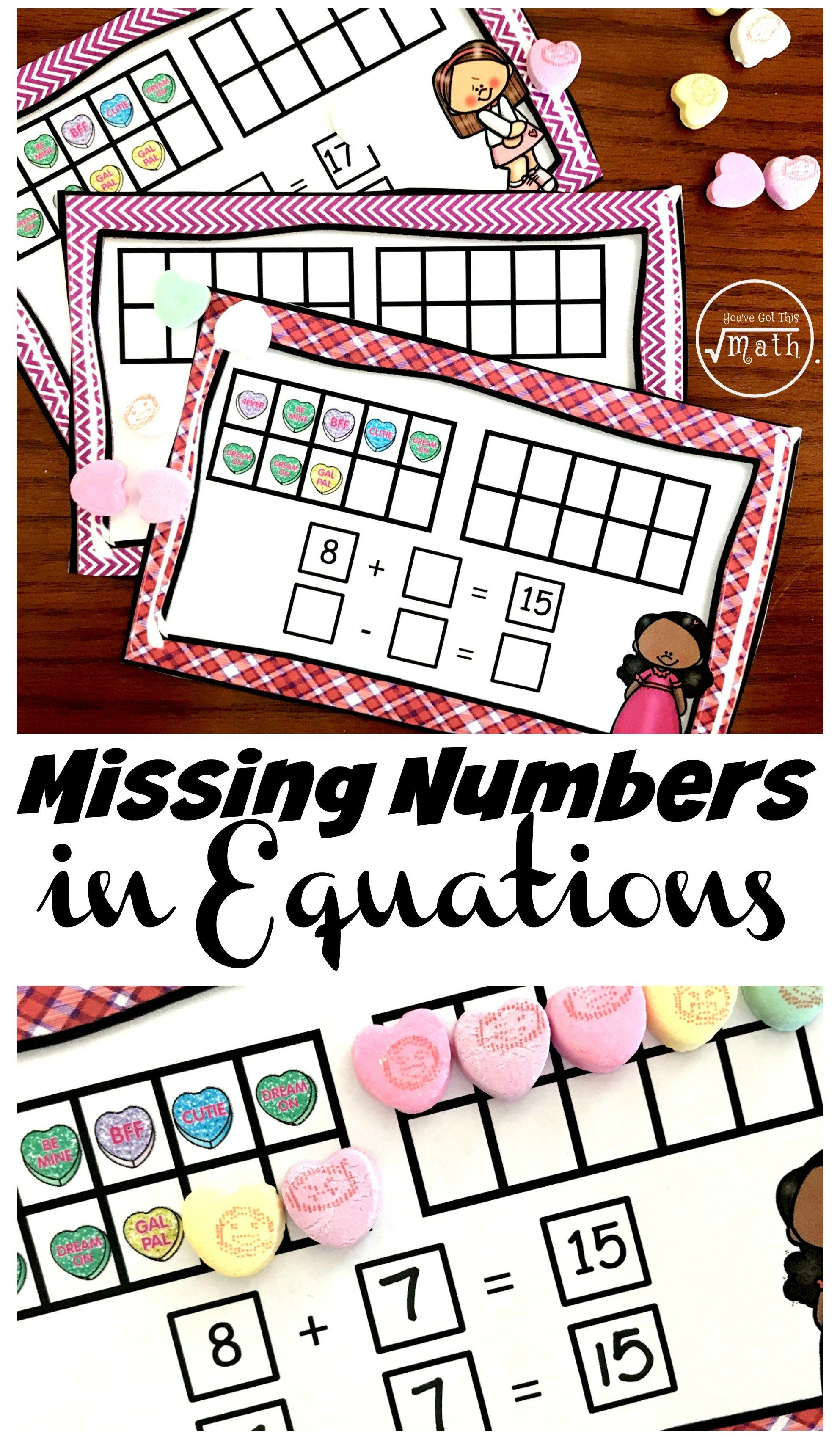 Fun Hands On Task Cards For Teaching Missing Numbers In