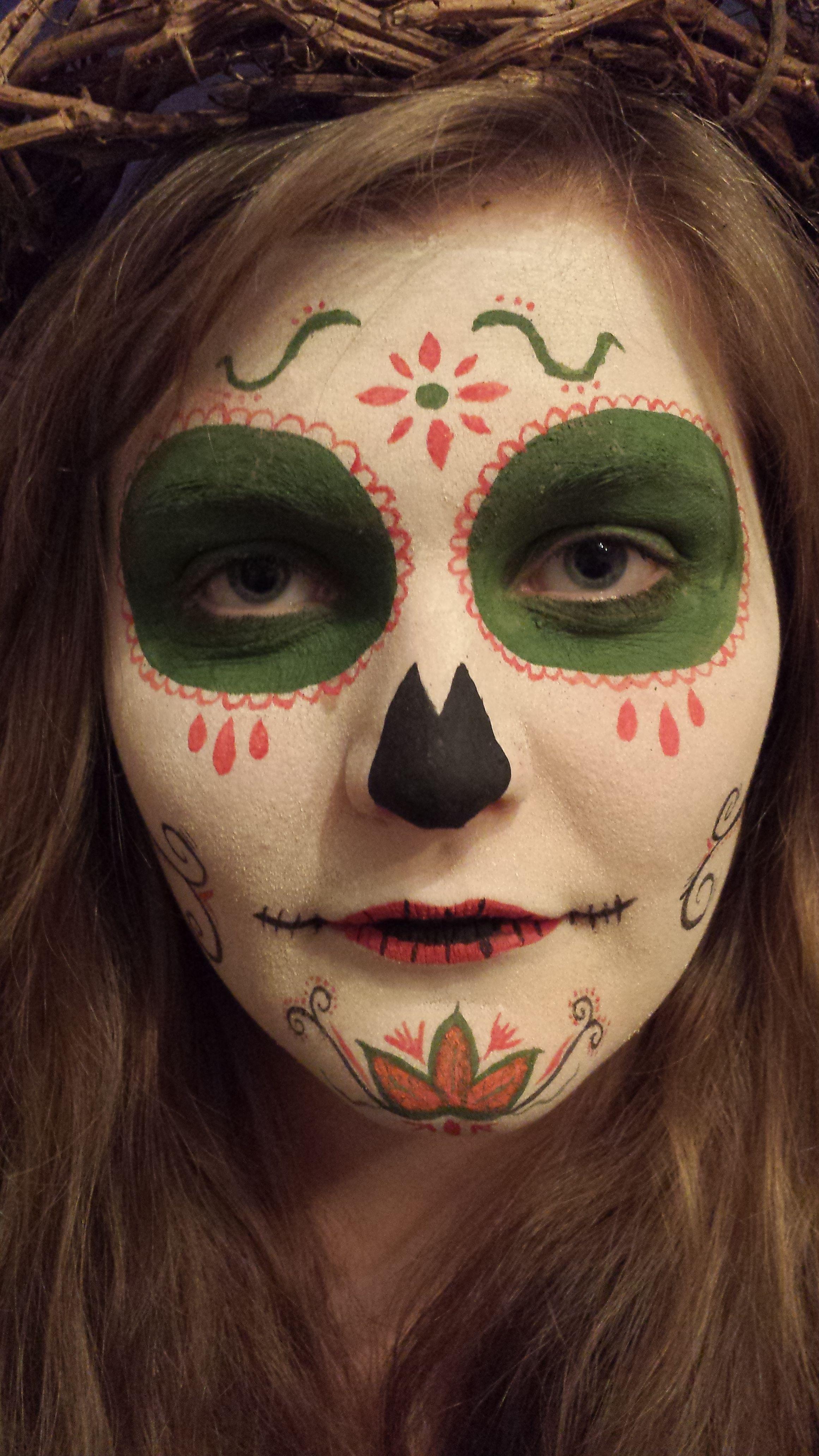 sugar skull make up :)