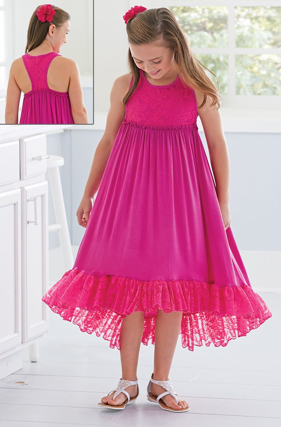 From CWDkids: Lace Detail High-Low Dress | vestidos para niña de 10 ...