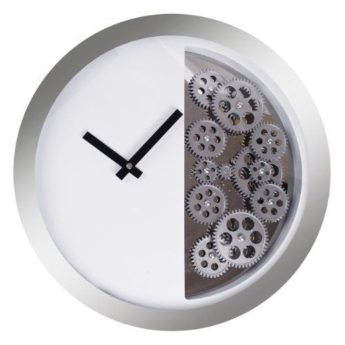 Lgi Dynamic Contemporary Modern Moving Gear Wall Wheel Clock Metal Structure And Glass Front Europa Clock Gear Wall Clock Metal Wall Clock