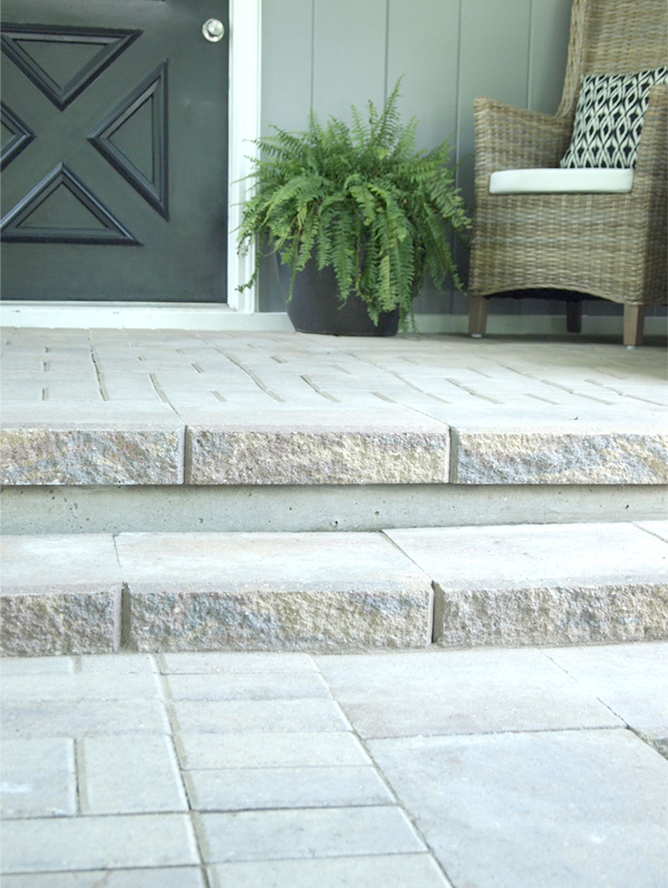 patio concrete slabs. Paver Patio And Steps To Cover An Old Concrete Slab Slabs 3