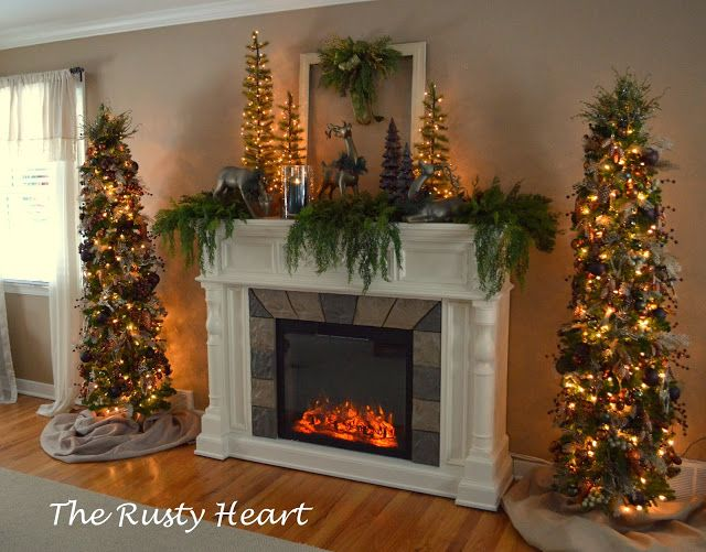 Love The Two Trees Next To The Fireplace --maybe My Next