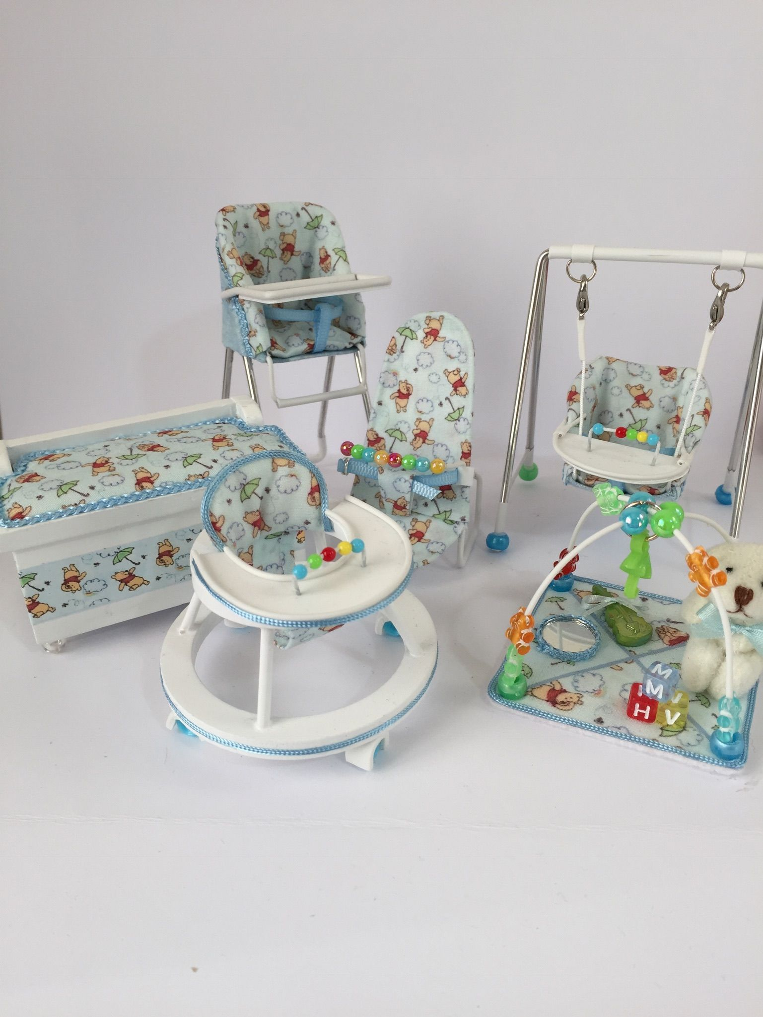 Nursery Set Doll House Crafts American Girl Doll Furniture