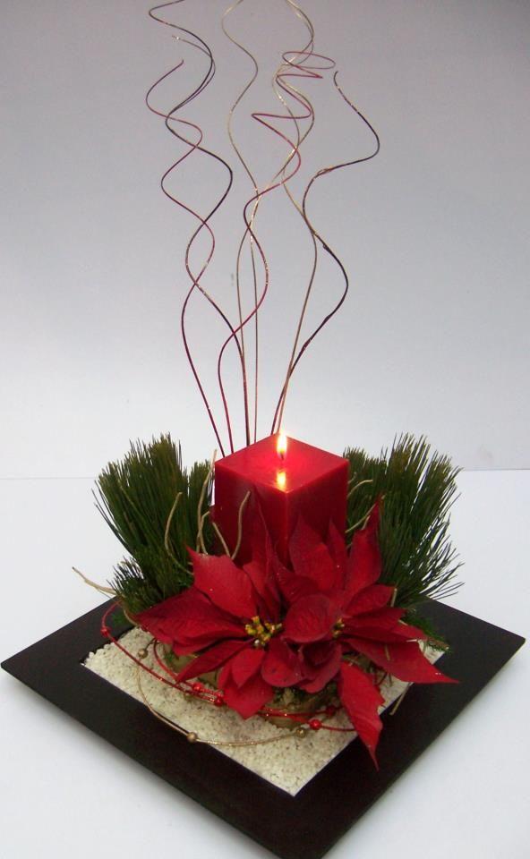 Centro de mesa navideño #IdeasenOrden #closets #decoracion velas