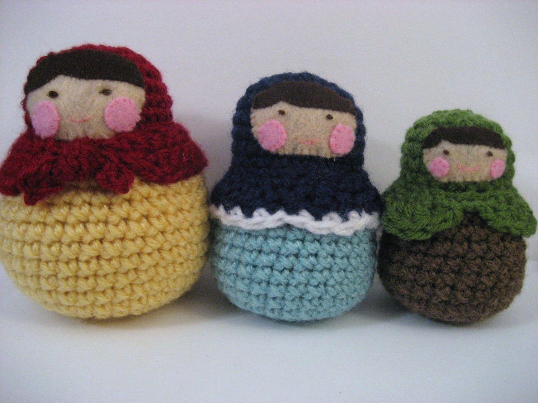 Amigurumi Russian Doll Pattern : Amigurumi matryoshka roly poly dolls pattern my patterns