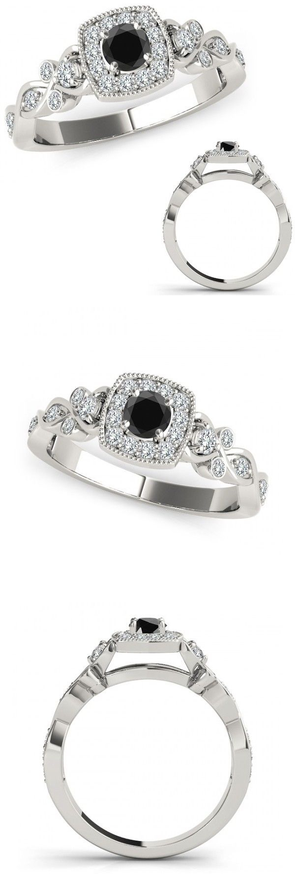 Other engagement rings carat black diamond cushion