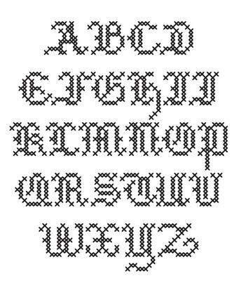 Cross Stitch Makin A Comback Cross Stitch Alphabet Patterns