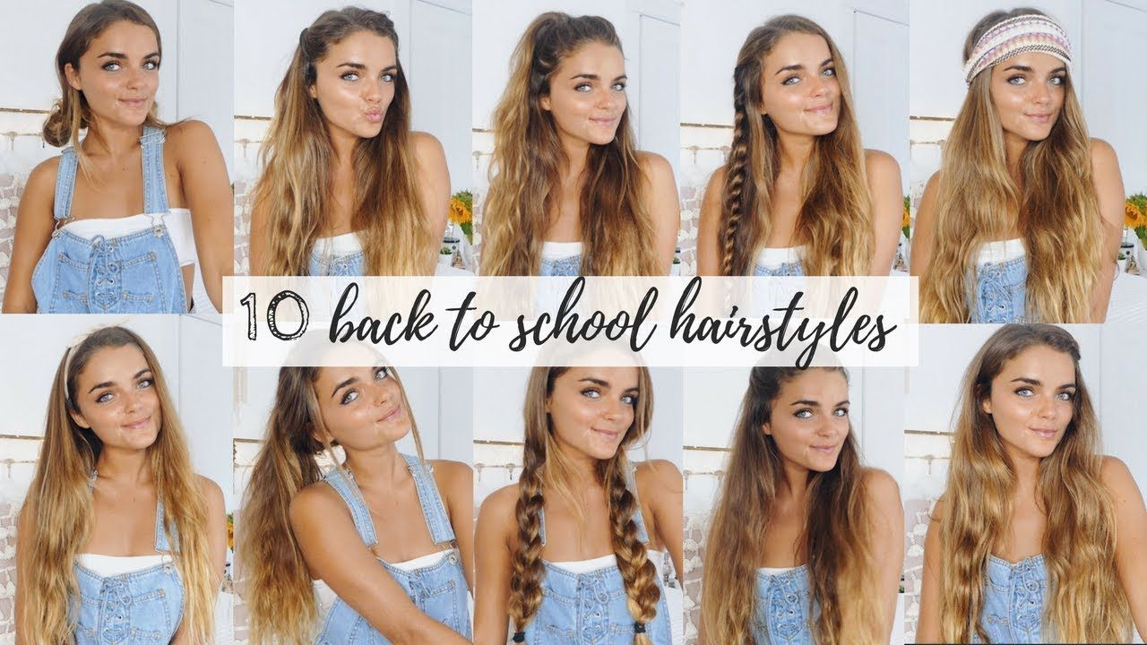 10 Quick Easy Hairstyles For Back To School Tess Florio