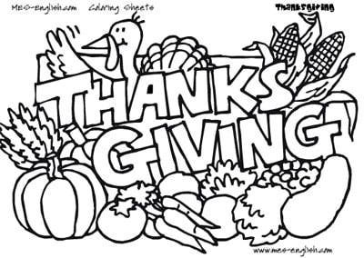 Image Detail For MES English Thanksgiving Coloring Pages