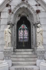 Burial Vault With A Stained Glass Door ... Metairie Cemetery ... New Orleans, Louisiana