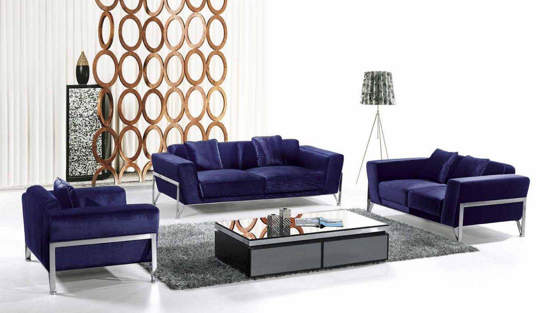 Superb blue sofa sets and unique room divider for sitting room furniture
