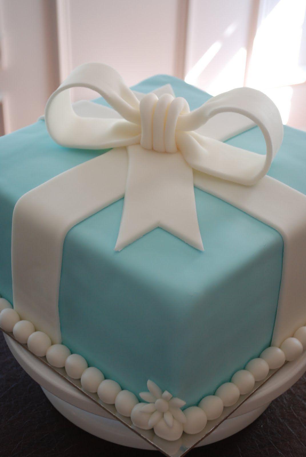 Tiffany Box Cake | Triple Chocolate Fudge Cake with Peanut Butter Filling, Fondant ...