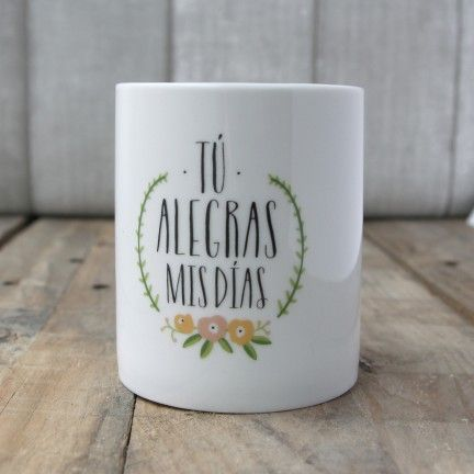 Taza t alegras mis d as dise o de mr wonderful a la for Decoracion tazas mr wonderful
