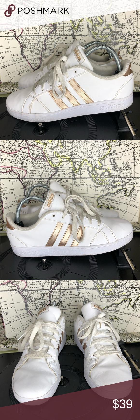 Adidas baseline, Rose gold tennis shoes