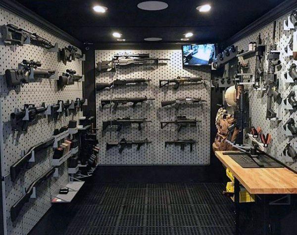 Modern Mens Armory Gun Room Ideas Awesome Gun Rooms