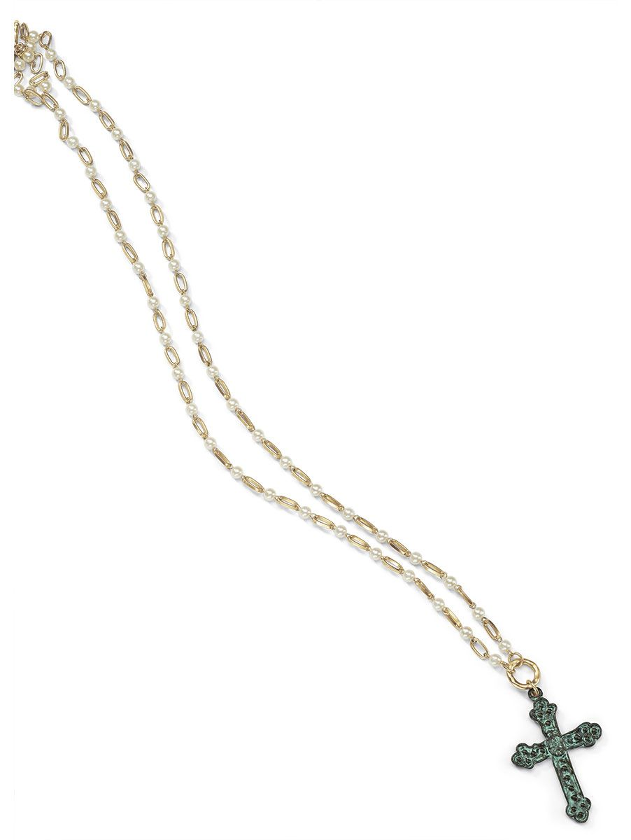 Florentine Patina Cross Necklace $28! www.cookielee.biz/MaureenLedon