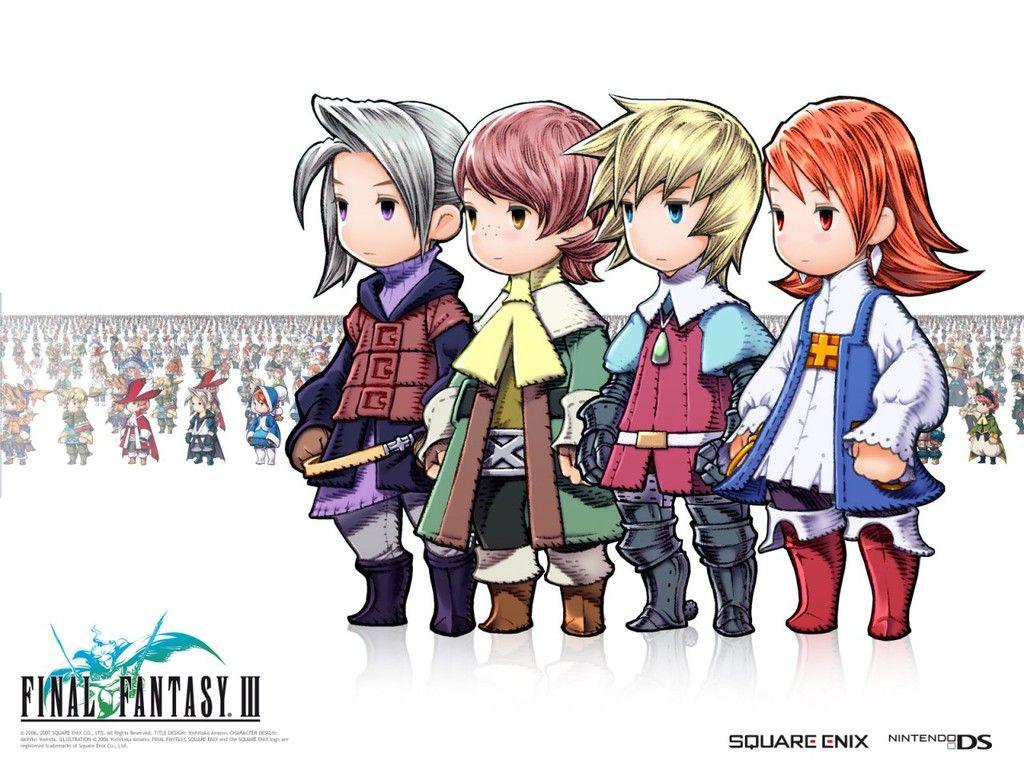 Final Fantasy 3 Snes Characters Final Fantasy Iii Main