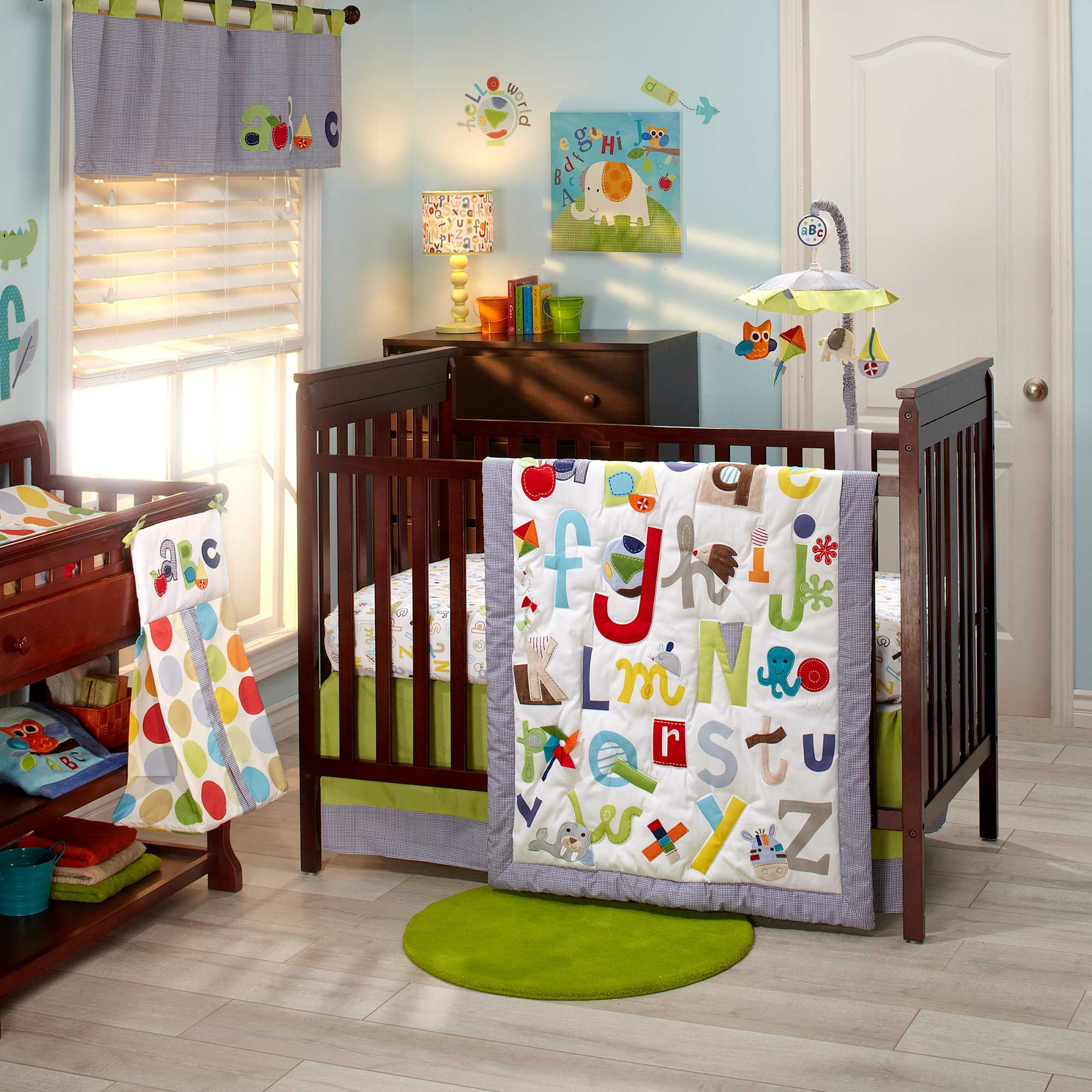 Abc With Me Bedding By Nojo Alphabet Baby Crib 5262634
