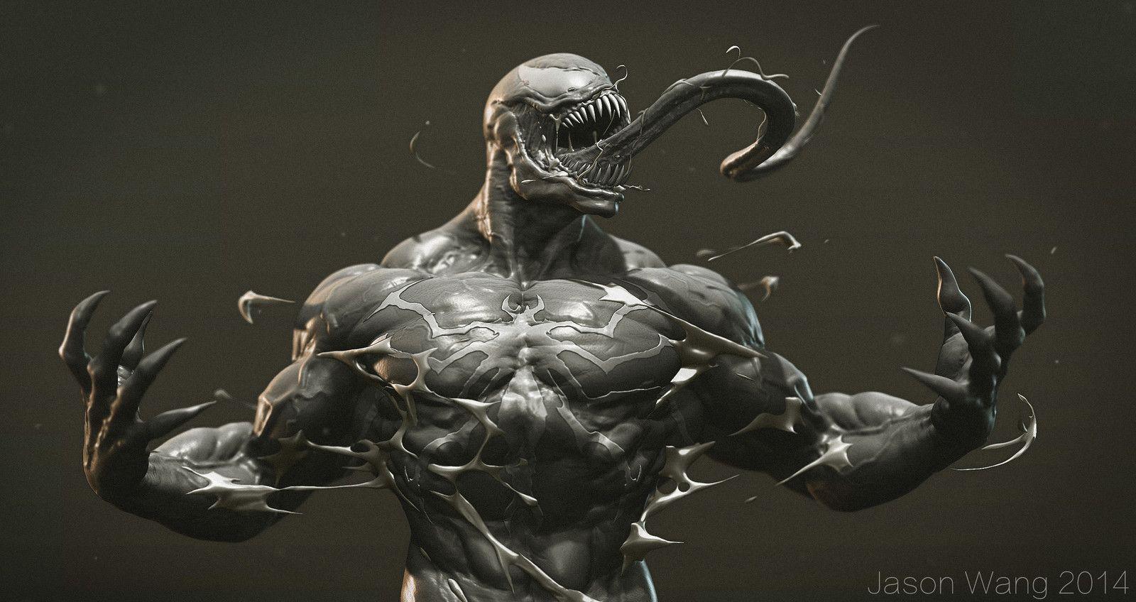 Venom quick sculpt , Jason Wang on ArtStation at https