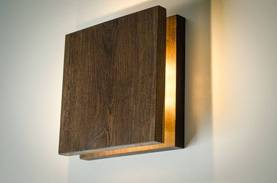 wall lamp SC#173 handmade wood lamp plug in wall sconce wood wall - pared de madera