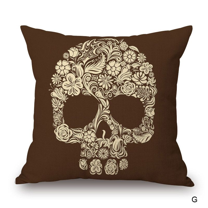 Aliexpress Buy Skull Throw Pillow Case for Car 45x45cm Linen