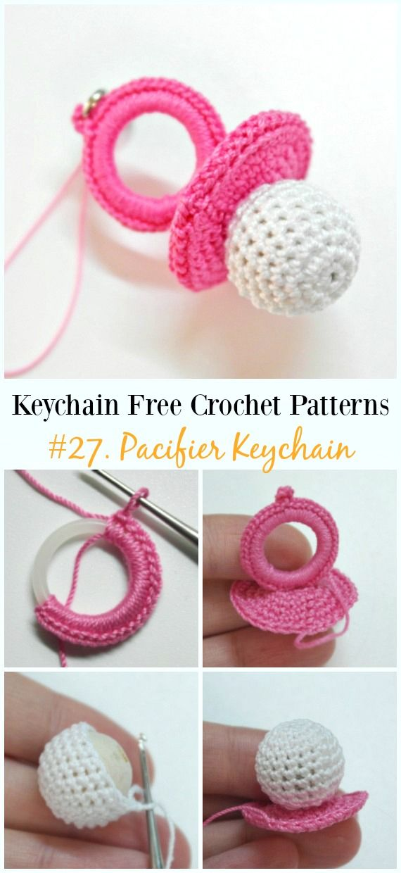 Cute and Fun Keychain Crochet Patterns | ganchillo | Ganchillo ...