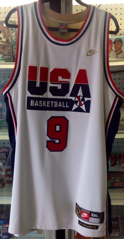 8922e711d09 1992 Nike Michael Jordan USA Olympic Basketball #9 Jersey Dream Team XXXL