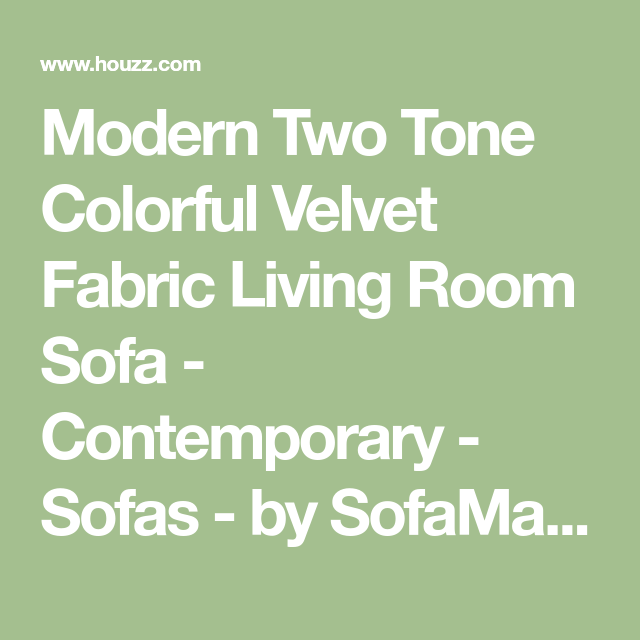 Fabulous Modern Two Tone Colorful Velvet Fabric Living Room Sofa Caraccident5 Cool Chair Designs And Ideas Caraccident5Info