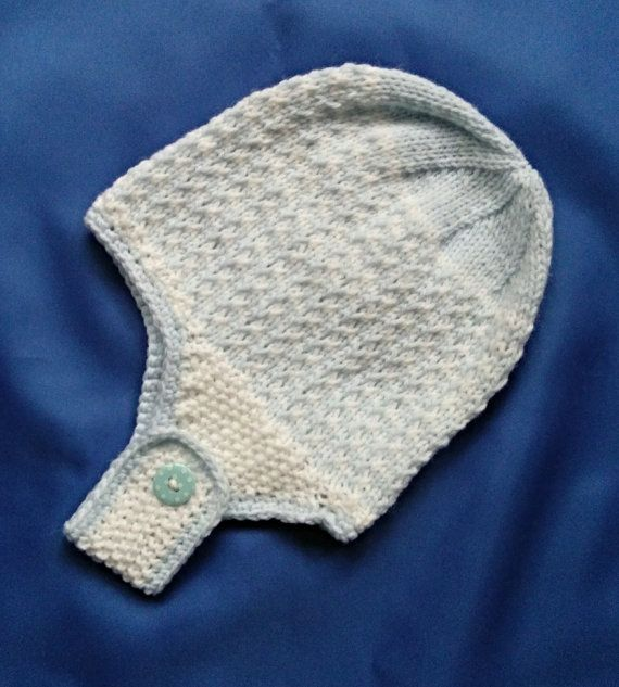 Baby Boy's Blue and White Hat от minniesmakes на Etsy