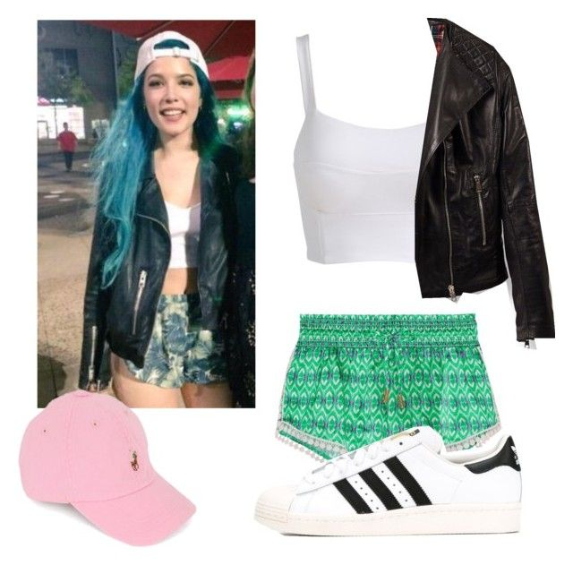 """Halsey Inspired 1"" by http-cxte on Polyvore featuring Paloma Blue, Ralph Lauren, adidas and halsey"