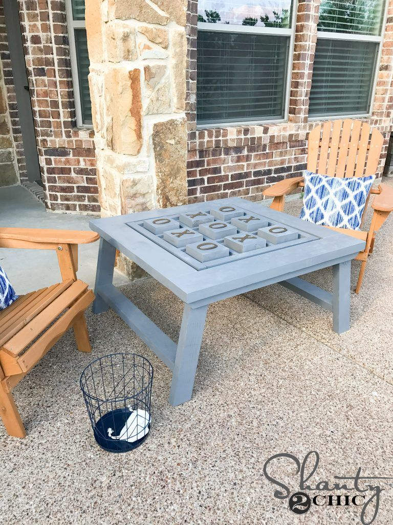 Diy Outdoor Gametable Outdoor Games Game Tables And Tic Tac Toe # Muebles Tic Toc