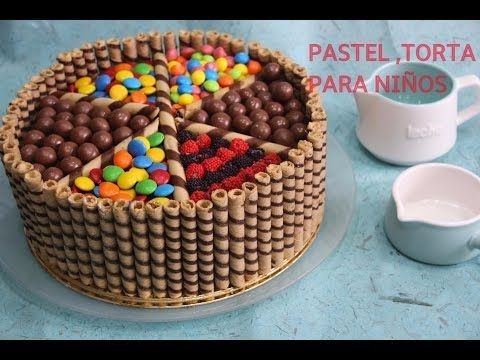Como Hacer Torta De Cumpleaños Para Festejar Feliz Acqua Rosa Recetas Youtube Torta De Cumpleaños Facil Torta De Cuchufli Tortas