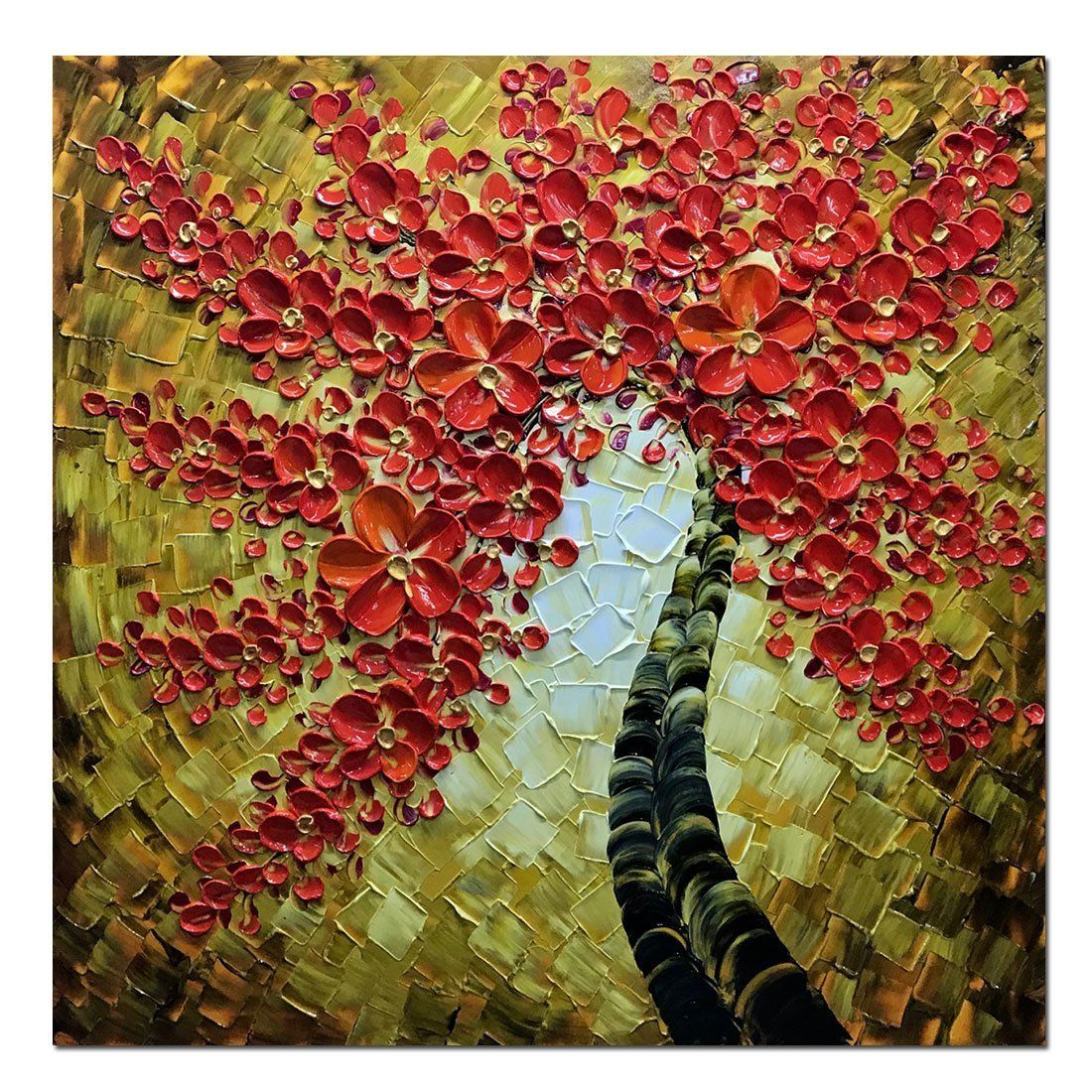Asdam ArtRed Mapple Wall Art 3D Oil Paintings On Canvas