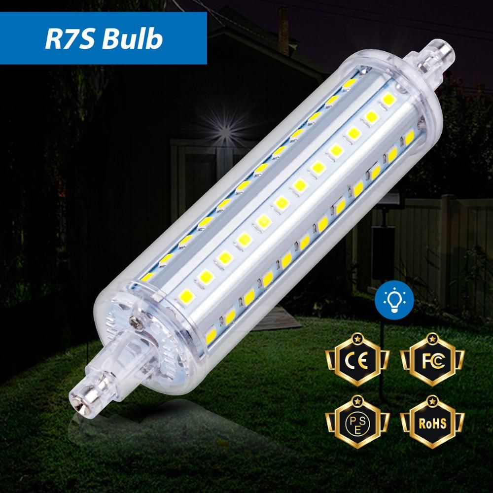 R7s Led Bulb Tube Light J78 J118 Corn Bulb Led R7s 78mm 118mm Bombillas Led 5w 10w 15w Floodlight Ac85 265v Replace Halogen Bulb Led Tube Light Led Light Bulb