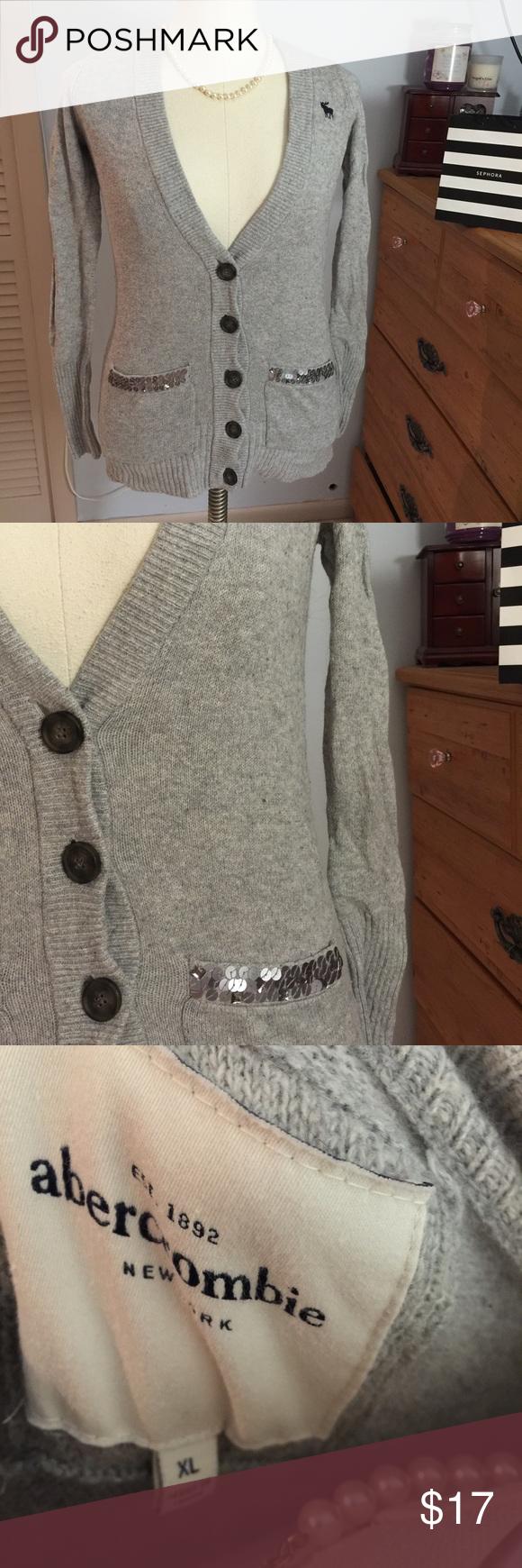 💜Abercrombie sequin cardigan💜 Beautiful cardigan with shiny ...
