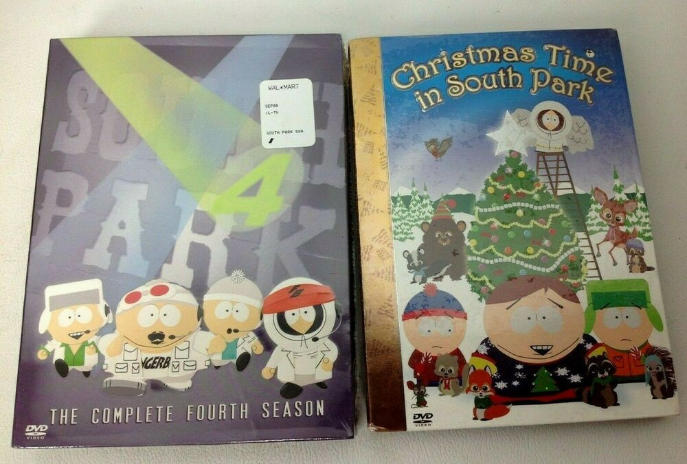 New SOUTH PARK Season 4 & Christmas Time DVD Sealed