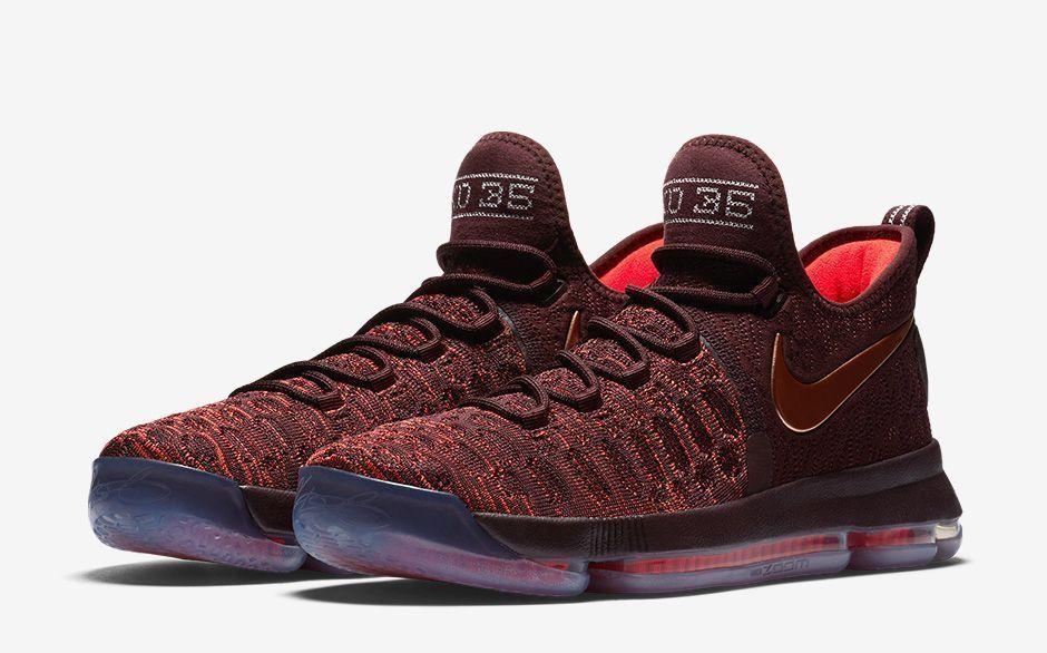 wholesale dealer 548fc 2aa3a Nike Zoom KD 9 IX Xmas Sauce Bronze Size 8.5. 852409-696. Christmas maroon  gold