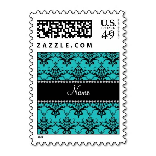 Personalized name turquoise damask postage stamp online after you search a lot for where to buyReview          	Personalized name turquoise damask postage stamp Review on the This website by click the button below...