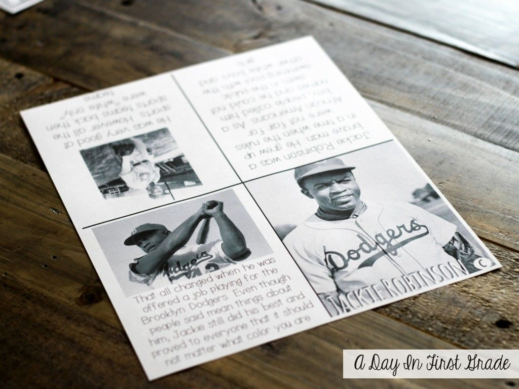 Quick Grab A Lesson Jackie Robinson Freebie