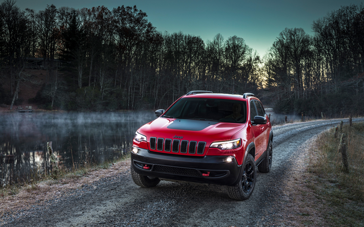 Download Wallpapers Jeep Cherokee Trailhawk Suvs 2018 Cars Morning Offroad Cherokee Trailhawk Jeep Jeep Cherokee Trailhawk Cherokee Trailhawk Jeep Cherokee