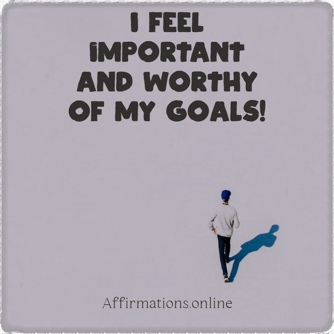 Affirmations For High Self Esteem In